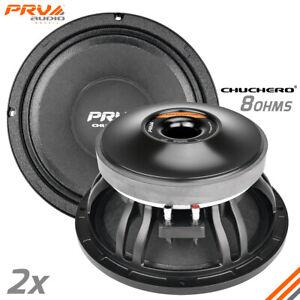 """2x PRV Audio 10CHUCHERO Midrange 10"""" Chuchero Speakers 8 Ohm RD PRO 700 Watts"""