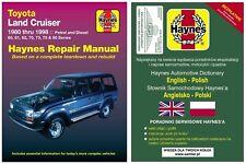 Toyota Land Cruiser 1980-1998 HJ60 HJ61 HJ70 HJ75 HDJ80 HZJ80 instrukcja Haynes