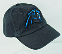 Carolina Panthers NFL Strapback '47 Brand Hat Black Blue Panther
