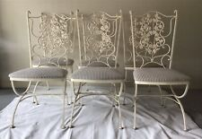 vintage metal wrought iron chairs