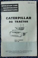 CAT CATERPILLAR D8 TRACTOR OPERATION and MAINTENANCE INSTRUCTIONS