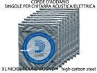 CORDE PER CHITARRA ELETTRICA-ACUSTICA D'ADDARIO XL NICKEL ROUNDWOUND P008>PL020