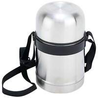 SS Hot Lunch 17oz Insulated Food Storage Coffee Soup Cup Container Thermos Strap