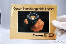 Canon Interchangable Lenses FD lens system brochure booklet Guide Genuine (EN)