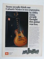 vintage magazine advert 1982 JBL / gibson les paul