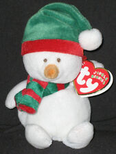 TY ICECAPS the SNOWMAN JINGLE BEANIE BABY - MINT with MINT TAGS
