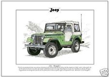 WILLYS' JEEP CJ-5 Renegade 1 - Fine Art Print A4 size