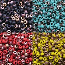 **Pick Your Color**  30 grams OF 6/0 FROSTED APOLLO TOHO SEED BEADS