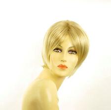 Perruque femme courte blond doré méché blond très clair  BLANDINE 24BT613