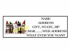 CHRISTMAS X-MAS CATS  ADDRESS LABELS COOL!! #22