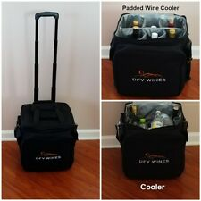 DFV Wines 6 Bottle Portable Trolley Wine Picnic Tote Insulated Cooler Storage