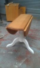 solid pine drop leaf round pedastal dining table/farrow & ball/made to measure