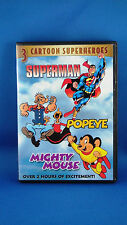 3 Cartoon Superheroes SUPERMAN - POPEYE - MIGHTY MOUSE-Rare And Unique Dreamline