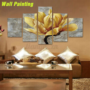 5Panels Unframed Modern Canvas Art Oil Painting Picture Room Wall Hanging Decors
