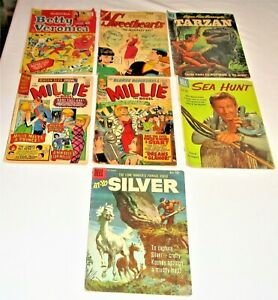 LOT OF 7 1950'S AND 1960'S COMIC BOOKS
