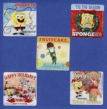 15 SpongeBob Christmas Holiday Season - Large Stickers - Party Favors