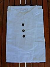 CHEMISE COL MAO BLANC 100 % COTON manche courte Homme shirt angkor Cambodge
