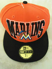 MARLINS New Era 59FIFTY BASEBALL Hat/Cap Official MLB Size 7 1/4 (57.7cm) COOL!