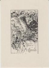 § Ex-libris A. CONRAD par Oskar SCHWINDRAZHEIM - Allemagne, 1908 §