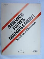 1984 Service Parts Management Principles and Practices Lee/Steinberg