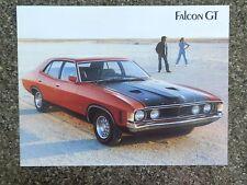 1972 FORD XA GT SALES  BROCHURE  100% GUARANTEE.