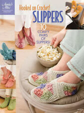 Hooked on Crochet Slippers Crochet Instruction Patterns Annie's Attic NEW