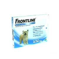 3 Pipettes Frontline Spot Medium Dog Flea Treatment, Tick & Lice 10-20Kg AVM-GSL