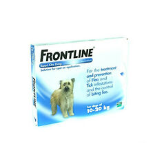 3 Pipettes Frontline Treatment For Flea, Tick & Lice Medium Dogs 10-20Kg AVM-GSL