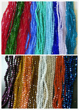 100 - 120pcs x 4mm Beautiful Glass Crystal Bicone Beads In 44 Colours UK Seller