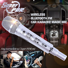 US STOCK Car Karaoke KTV Wireless Bluetooth FM Dynamic Mic Set 4 Iphone Android