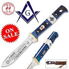 Kissing Crane Masonic Hunter - Fixed Blade Hunting Knife & Sheath KC5253 On SALE