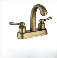 RE Bathroom Antique Brass Swivel Basin Sink Mixer Faucet 2 Handles Tap
