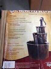 Alpine Cascading Fountain Collection 2 Tier Barrel Water Indoor Outdoor w/ Pump