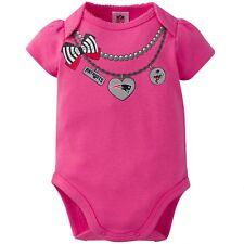 Infant Newborn Baby Girl's NFL New England Patriots Bodysuit Creeper 18 MONTHS