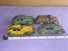 Vintage/Antique Hubley Diecast Metal Toy Sedan Car truck Usa set of four cars