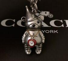 COACH WIZARD OF OZ TIN MAN Bag Purse Keychain Key Ring Fob Charm F35246 New