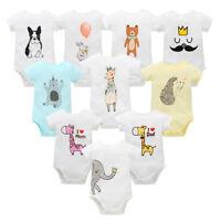 Newborn Baby Girl Boy Cartoon Romper Cotton Bodysuit Jumpsuit Outfit Clothes Set