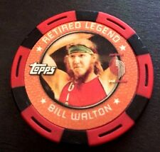 Topps 2005-06 NBA Poker Chips Bill Walton Portland Trail Blazers Red/Black