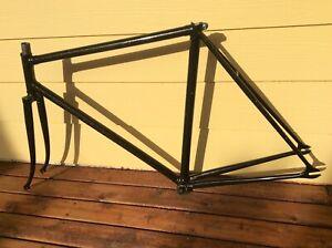 Lugged Steel Track/Fixie Bike Frame Set, Size 53 with Bottom Bracket