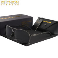 KEITHION Oval Polarized Mens Sunglasses Metal Oversized Unisex Driving Eyewear