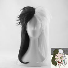 Deville Cruella De Vil Wigs One Hundred and One Dalmatians Cosplay Wig +Wig Cap