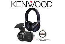 Kenwood DRV-410 HD Dash Camera & Safety Sensor With KH-KR900 Headphones