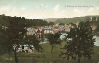 Antique Postcard A GLIMPSE OF BEAR RIVER NS Nova Scotia Posted w/stamp