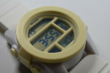 Nixon The Unit Men's White Band Polycarbonate Large Watch NEW BATTERY!