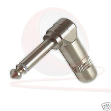Switchcraft 226 Angled Mono Jack Plug Connector. 2 Pole Metal Shell, Steel Clamp