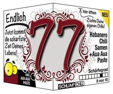 Endlich 77 - Ein witziges Geschenk zum Geburtstag (für Männer oder Frauen)