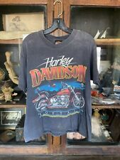 Vintage Mens Harley Davidson T Shirt Motorcycle 1990's 80's Distressed Faded