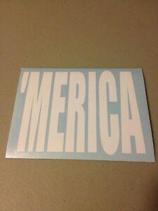 'MERICA Vinyl Die Cut Decal,window,car,truck,laptop,funny,america,iPad,country