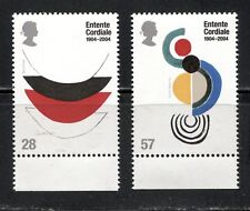 """CENTENARY OF THE """"ENTENTE CORDIALE"""", ART ON GREAT BRITAIN 2004 Sc 2200-2201, MNH"""