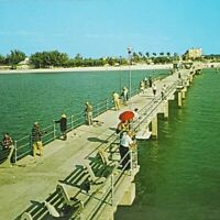 Vintage Postcard Big Pier 60 Clearwater Beach Florida